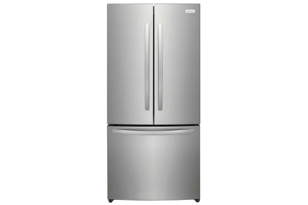 Large image of Frigidaire 17.6 Cu. Ft. Brushed Steel Counter-Depth French Door Refrigerator - FRFG1723AV