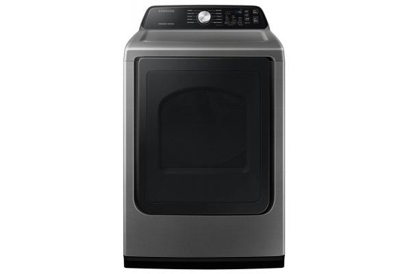 Large image of Samsung 7.4 Cu. Ft. Platinum Electric Dryer With Sensor Dry - DVE45T3400P/A3