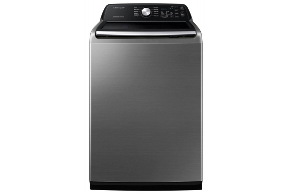 Large image of Samsung 4.5 Cu. Ft. Platinum Top Load Washer With Active WaterJet - WA45T3400AP/A4