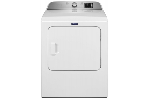 Large image of Maytag 7.0 Cu. Ft. White Electric Dryer With Moisture Sensing - MED6200KW