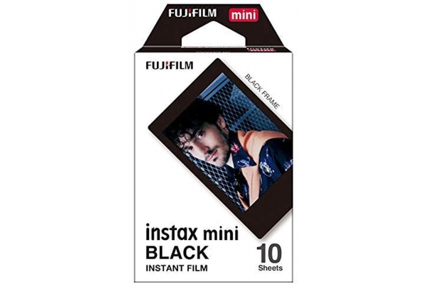 Large image of Fujifilm Instax Mini Black Instant Film - 7748
