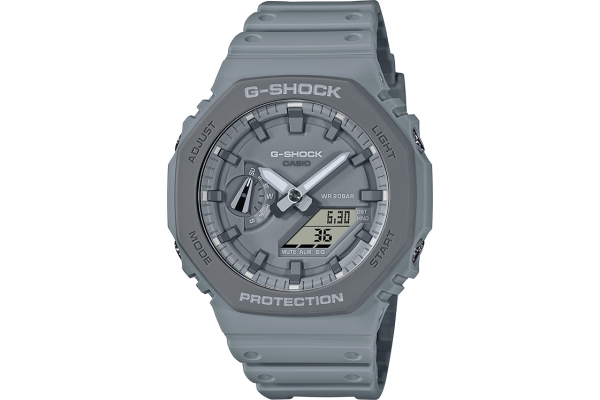 Large image of G-Shock Earth Toned Grey Case And Grey Dial Analog-Digital Mens Watch - GA2110ET-8A