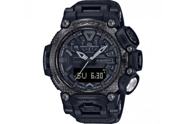 Large image of G-Shock Analog-Digital Gravitymaster Carbon Core Black Resin Watch, 54.1mm - GRB200-1B