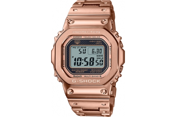 Large image of G-Shock Full Metal Rose Gold Ion Plated Bracelet Watch, 43.2mm - GMWB5000GD-4