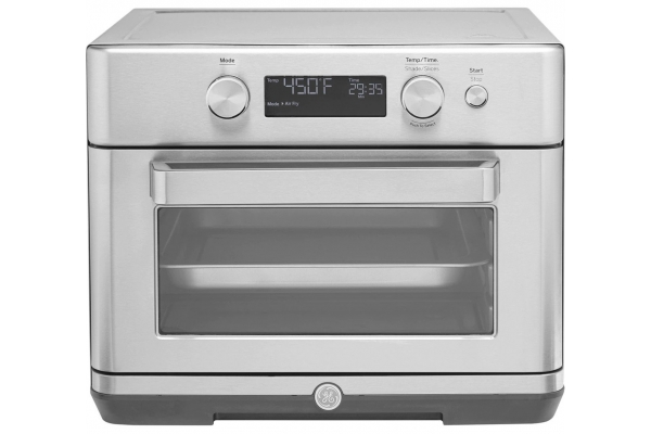 Large image of GE Stainless Steel Digital Air Fry 8-in-1 Toaster Oven - G9OAAASSPSS
