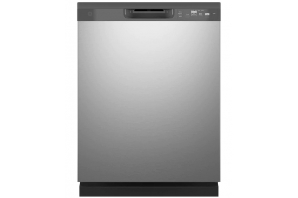 """Large image of GE 24"""" Stainless Steel Built-In Dishwasher With Front Controls - GDF510PSRSS"""