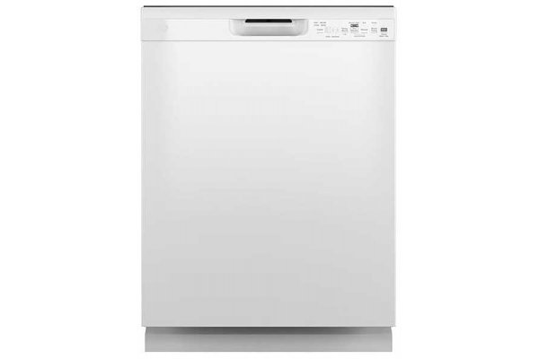 """Large image of GE 24"""" White Dishwasher With Front Controls - GDF550PGRWW"""