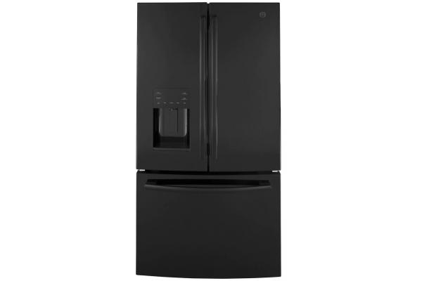 Large image of GE ENERGY STAR 25.6 Cu. Ft. Black French-Door Refrigerator - GFE26JGMBB