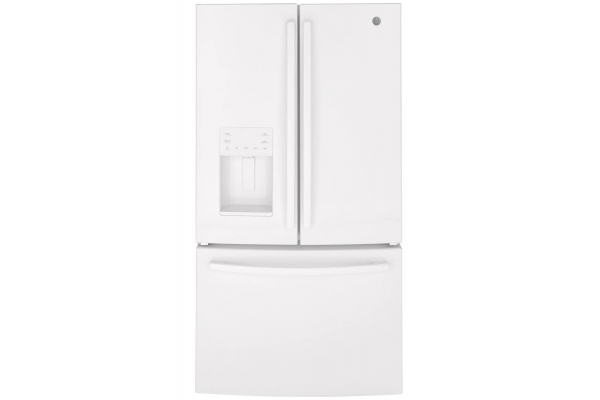 Large image of GE ENERGY STAR 25.6 Cu. Ft. White French-Door Refrigerator - GFE26JGMWW