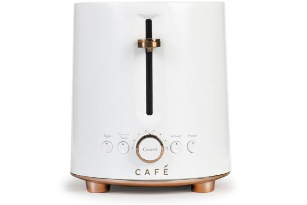 Large image of Cafe Express Finish Matte White 2-Slice Toaster - C9TMA2S4PW3