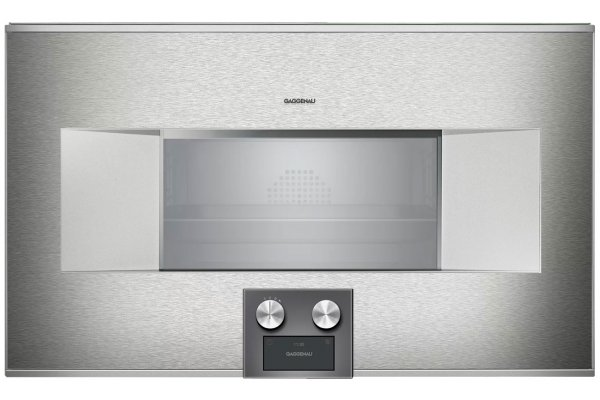 "Large image of Gaggenau 400 Series 30"" Stainless Steel Left-Hinge Combi-Steam Oven - BS485612"