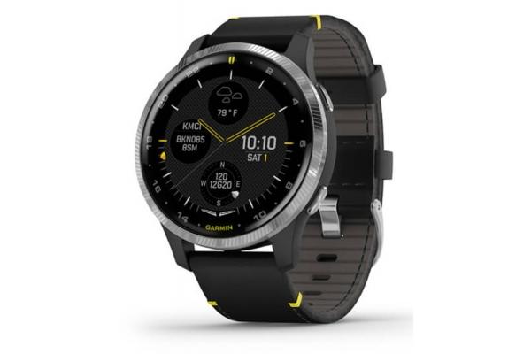 Large image of Garmin Black D2 Air GPS Smartwatch for Aviators - 010-02173-41
