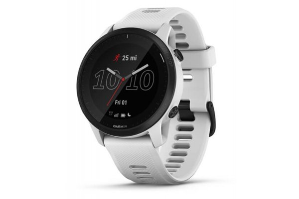 Large image of Garmin Black Polymer Bezel With Whitestone Case And Silicone Band Forerunner 945 LTE Watch - 010-02383-01