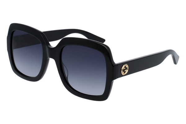 Large image of Gucci Black Oversized Square-Frame Womens Sunglasses - GG0036S-001 54