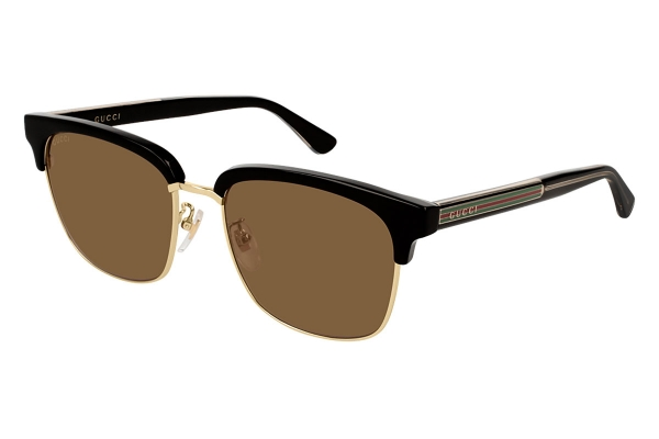 Large image of Gucci Clubmaster Frame Black Mens Sunglasses - GG0382S002