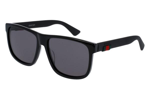 Large image of Gucci Wayfarer Black Sunglasses, 58mm - GG0010S-001 58