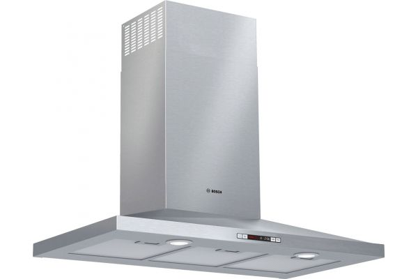 """Large image of Bosch 36"""" 300 Series Stainless Steel Pyramid Canopy Chimney Hood - HCP36E52UC"""