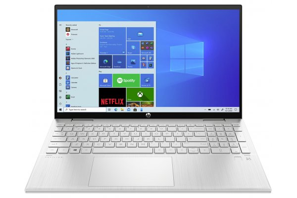 """Large image of HP Natural Silver Pavilion x360 15.6"""" 2-In-1 Notebook Intel i5-1135G7 12GB RAM 256GB SSD, Intel Iris Xe Graphics - 15ER0010NR"""