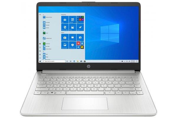 "Large image of HP Natural Silver 14-FQ0039NR 14"" Touchscreen Notebook AMD Ryzen 3 3250U, 8GB RAM 256GB SSD, AMD Radeon Graphics - 14FQ0039NR"