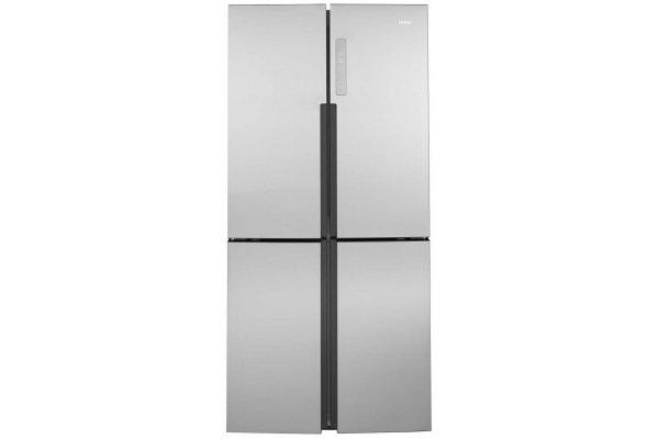Large image of Haier 16.4 Cu. Ft. Fingerprint Resistant Stainless Steel Quad Door Refrigerator - QHE16HYPFS