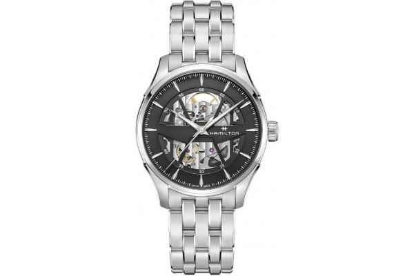 Large image of Hamilton Jazzmaster Skeleton Auto Anthracite Dial Mens Watch - H42535180