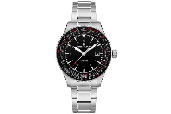 Large image of Hamilton Khaki Aviation Converter Auto Black Dial Mens Watch - H76615130
