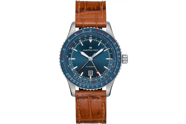 Large image of Hamilton Khaki Aviation Converter Auto GMT Blue Dial Mens Watch - H76715540