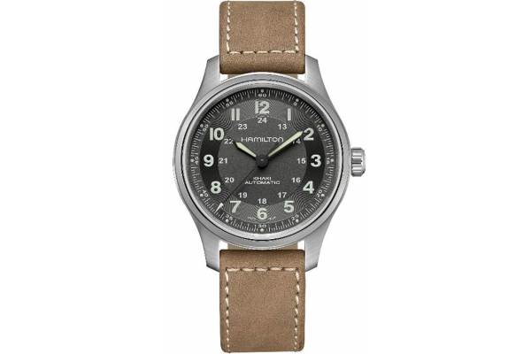 Large image of Hamilton Khaki Field Titanium Auto Black Dial Mens Watch - H70545550