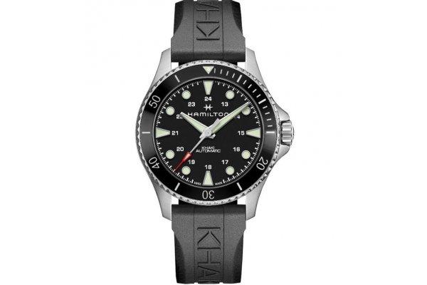 Large image of Hamilton Khaki Navy Scuba Auto Black Dial Watch, 43mm - H82515330