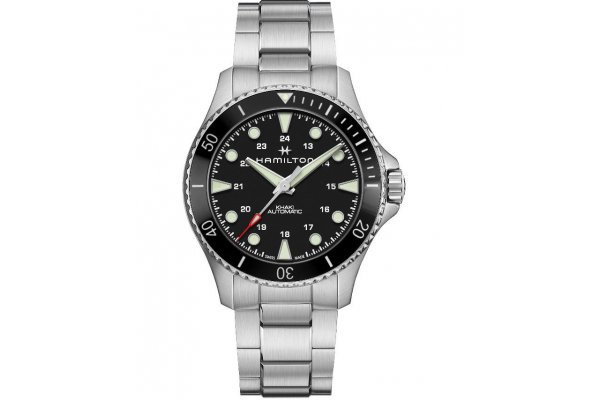 Large image of Hamilton Khaki Navy Scuba Auto Black Dial Watch, 43mm - H82515130