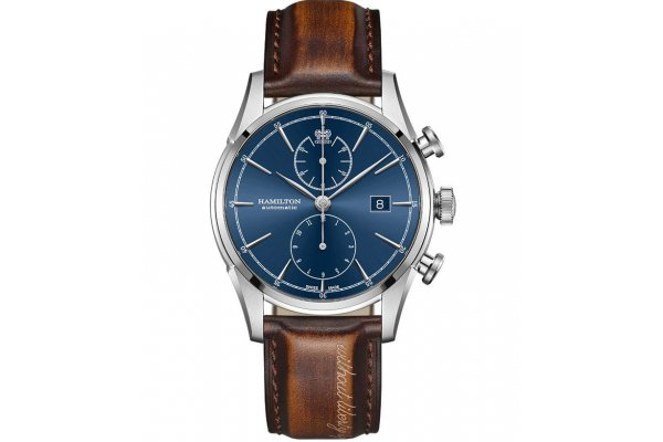 Large image of Hamilton American Classic Spirit of Liberty Auto Chrono Blue Dial Watch, 42mm - H32416541