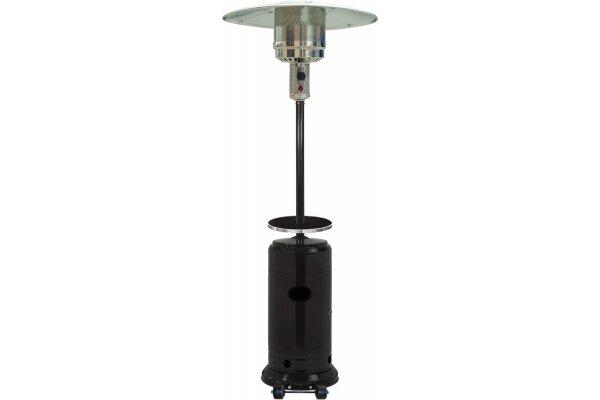 Large image of Hanover Black 7' 48,000 BTU Steel Umbrella Patio Heater - HAN004BLK