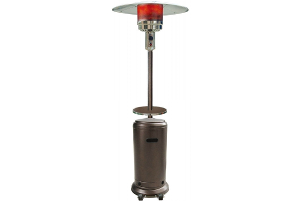 Large image of Hanover Hammered Bronze 7' 48,000 BTU Steel Umbrella Patio Heater - HAN001BR