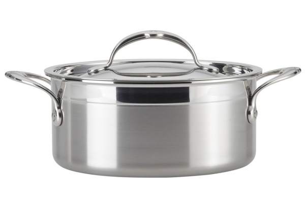 Large image of Hestan ProBond 3 Qt. Forged Stainless Steel Soup Pot With Lid - 31582