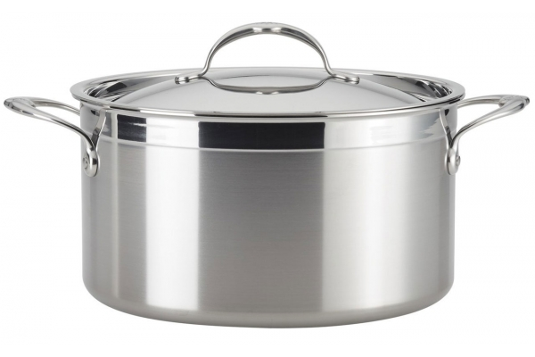 Large image of Hestan ProBond Forged Stainless Steel 8 Qt Stockpot With Lid - 31567