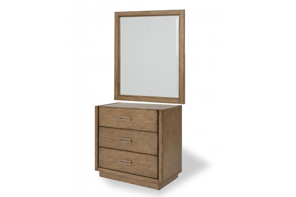Large image of Homestyles Big Sur Brown Chest With Mirror - 5506-71