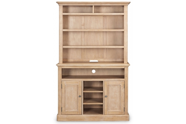 Large image of Homestyles Cambridge Whitewash Buffet And Hutch - 5170-65