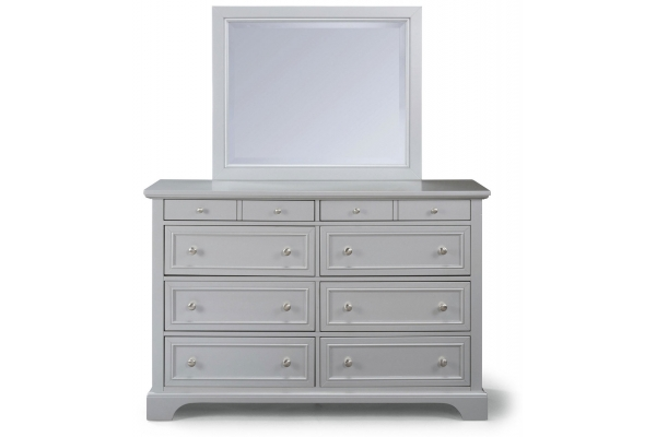 Large image of Homestyles Venice Grey Dresser With Mirror - 5533-74