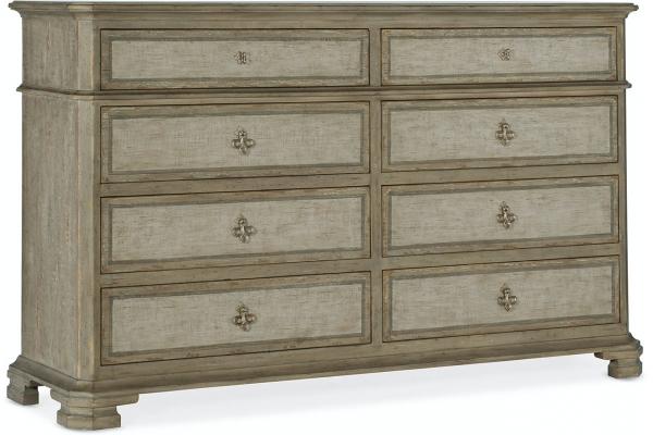 Large image of Hooker Furniture Living Room Alfresco Aldo 8 Drawer Dresser - 6025-90002-83