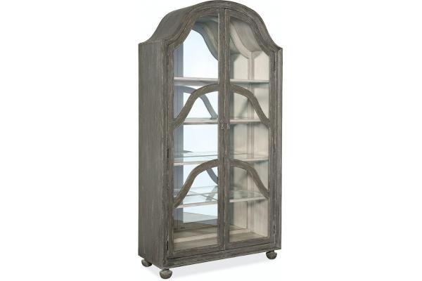 Large image of Hooker Furniture Living Room Alfresco Costa Display Cabinet - 6025-75906-95