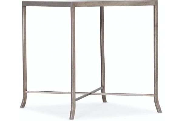 Large image of Hooker Furniture Living Room Alfresco Lapilli Carved Top End Table - 6025-80113-15