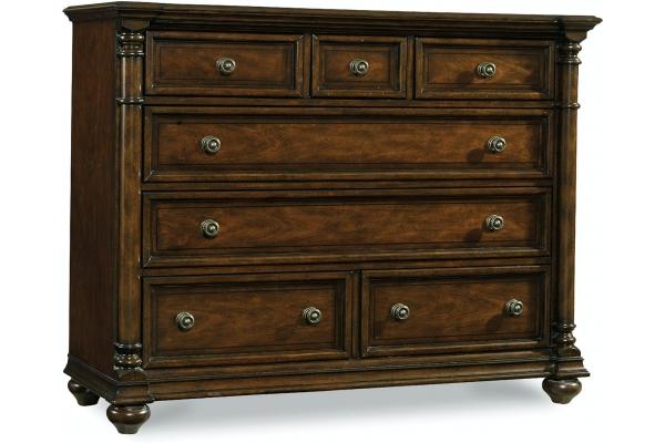 Large image of Hooker Furniture Bedroom Leesburg 7 Drawer Bureau - 5381-90011