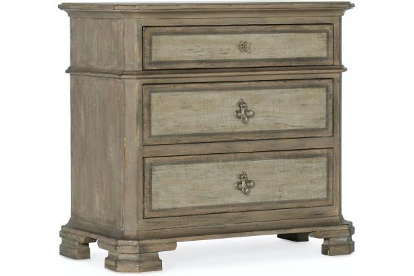 Large image of Hooker Furniture Living Room Alfresco Palmieri 3 Drawer Nightstand - 6025-90016-83