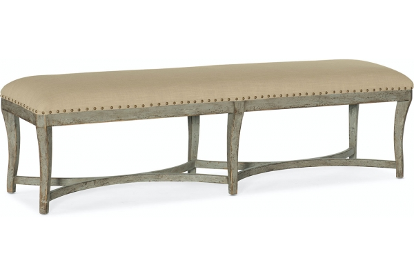 Large image of Hooker Furniture Living Room Alfresco Panchina Bed Bench - 6025-90019-90
