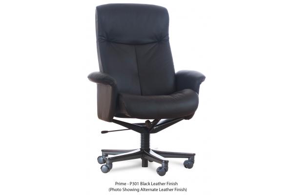 Large image of IMG Kingston Prime Black Leather Standard Desk Chair - SH204-P/PVC301-QS