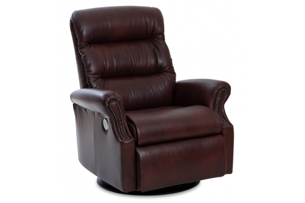 Large image of IMG Largo Sauvage Oxblood Leather Large Power+ Recliner With Chaise - RMS313-S558-QS