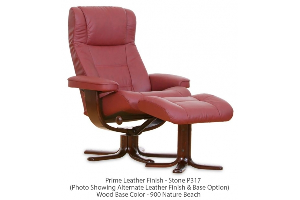 Large image of IMG Nordic 10 Prime Stone Standard Recliner & Ottoman - NC10SF44SK-P/PVC317-900-QS