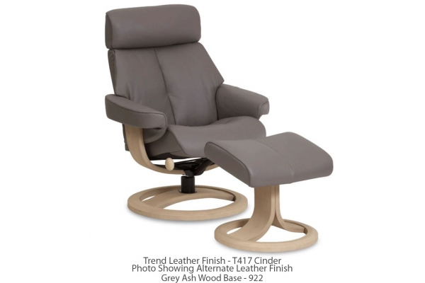 Large image of IMG Nordic 85 Trend Cinder Standard Recliner & Ottoman - NC85SF44SK-T417-922-QS