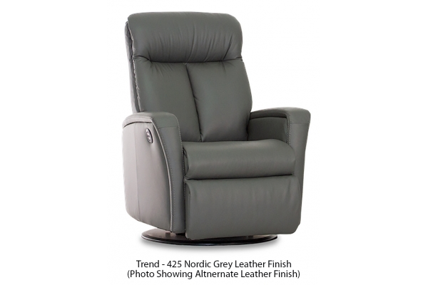Large image of IMG Salem Trend Nordic Grey Leather Standard Power+ Recliner With Chaise - RMS276-T425-QS