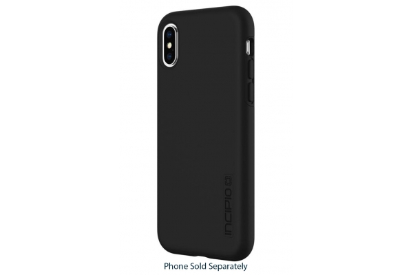Large image of Incipio DualPro Black Case For iPhone X & XS - IPH-1776-BLK